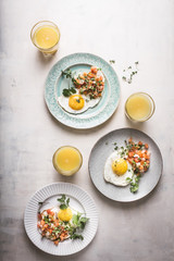 Breakfast Eggs and Orange Juice