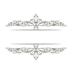 Vintage elegant decorative ornamental page decoration