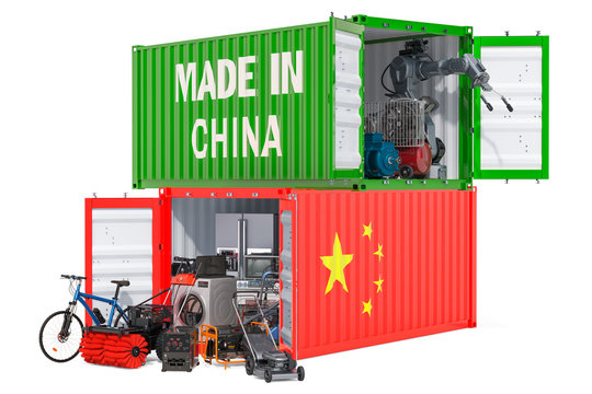 Production and shipping of electronic and appliances from China, 3D rendering