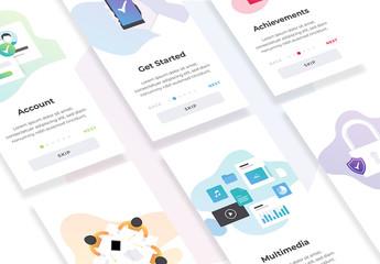 Mobile App Onboarding Screen Layouts