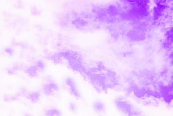 Violet purple sky with white clouds. Looks like a marble texture.