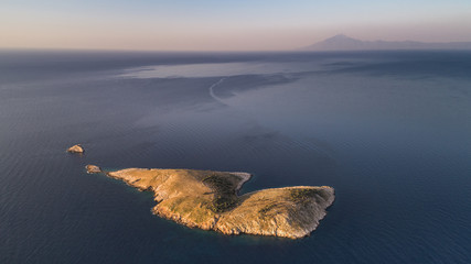 Panagia island in Thassos, Greece
