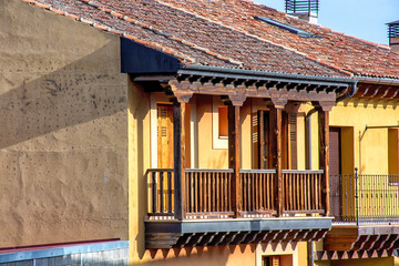 balcón tipico de Segovia, Riaza