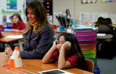 "First lady Melania Trump on a two-day tour to promote her ""Be Best"" initiative"
