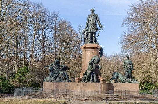 Bismarck Memorial in the Tiergarten, the largest urban park of Berlin, Germany