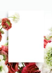아름다운 봄꽃 배너&프레임, 세일,초대장 배경