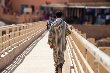 Person as guide in the UNESCO town Ait Ben Haddou, Morocco