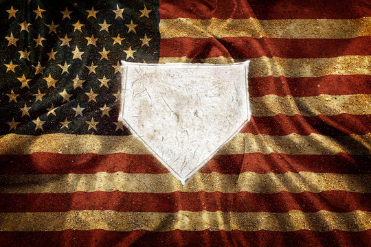Baseball Home Plate Base Ball Homeplate American Sports Competition Flag