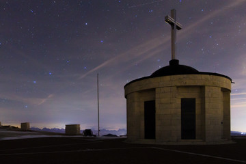 Monument with starry sky as a background