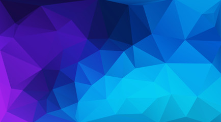 Flat blue geometric triangle wallpaper