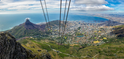 Cape Town Cable Car Table Mountain View,  South Africa