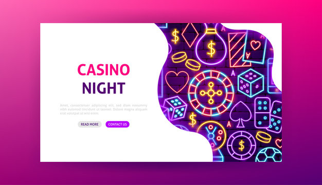 Casino Night Neon Landing Page