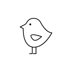 bird, Easter, nature icon. Element of easter day icon. Thin line icon for website design and development, app development. Premium icon