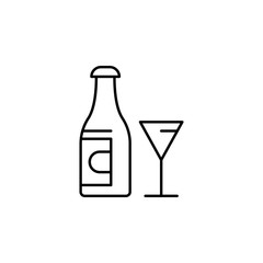 bootle, Easter, glass, wine icon. Element of easter day icon. Thin line icon for website design and development, app development. Premium icon