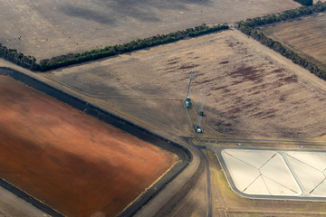 Aerial photography of countryside near the Great Ocean Road, Victoria, Australia