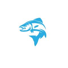 fish vector icon logo