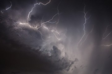 The elements of storm and lightning