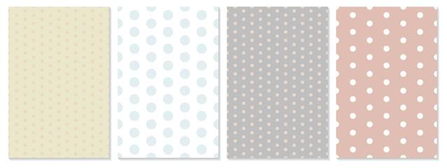Polka dot pattern vector. Baby background.