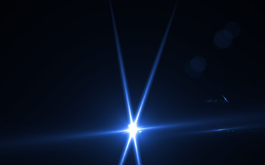 abstract of lighting digital lens flare in dark background.Nature of lighting digital  flare.Easy to add overlay or screen filter over photo