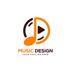creative music logo designs with minimalist circle designs concept