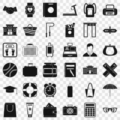 Sporting icons set. Simple style of 36 sporting vector icons for web for any design