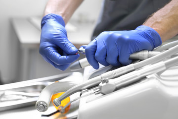Fototapeta Gabinet stomatologiczny.  Narzędzia stomatologiczne. obraz