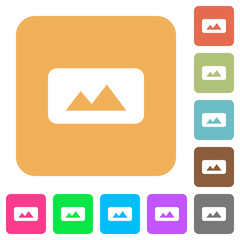 Panorama picture rounded square flat icons