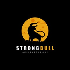 Abstract Bull Concept illustration vector Design template