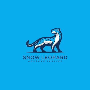 Abstract Snow Leopard Design Concept Vector Template