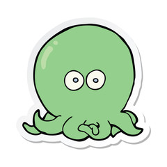 sticker of a cartoon octopus