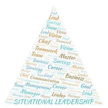 Situational Leadership word cloud.