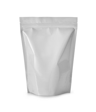 white plasic bag isolated on white
