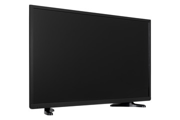 View of widescreen internet tv monitor isolated on white background