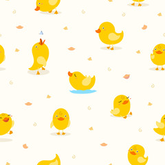 cute yellow duckling pattern