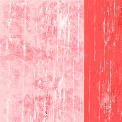 Living coral and white painted wall high resolution background