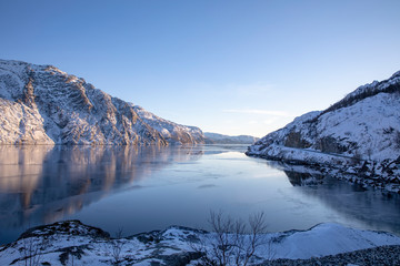 Cold and quiet on the fjord - Norway