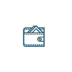 wallet icon line design. Business icon vector illustration