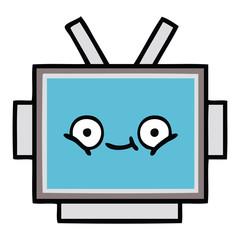 cute cartoon robot head