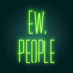 Garden Poster Retro sign ew people neon sign