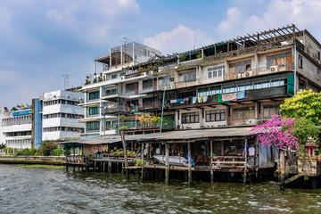 Riverside buildings n Bangkok, Thailand