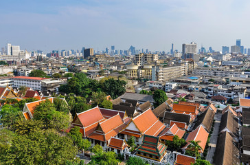 Panoramic view from the Golden Mount in Bangkok, Thailand