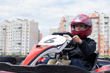 carting on a sports track