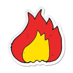 sticker of a cartoon flame