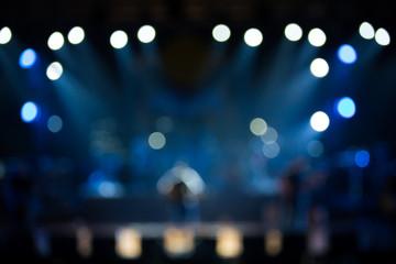 Defocused entertainment concert lighting on stage
