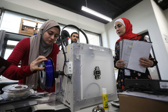 3D-printed prosthetic hand is printed at the FabLab in city of Irbid
