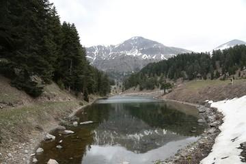 black lake landscape photos