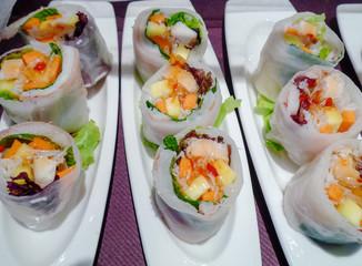 Fresh spring rolls Asian food