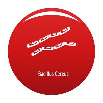 Bacillus cereus icon. Simple illustration of bacillus cereus vector icon for any design red