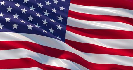 USA flag patriotic background, 3d illustration