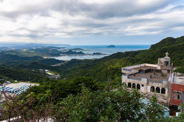 Magnificent view to the Pacific coast, Jiufen, Taiwan